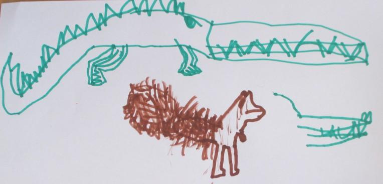 Alligator + écureuil