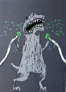 Idamia del Rio : la fibre optique croquée par le dinosaure de google ...